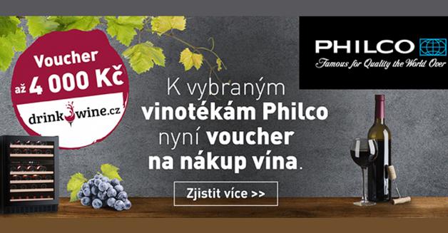 Voucher až 3000,- na nákup vína od PHILCO